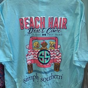 Simply Southern Beach Hair Don't Care Pink Jeep